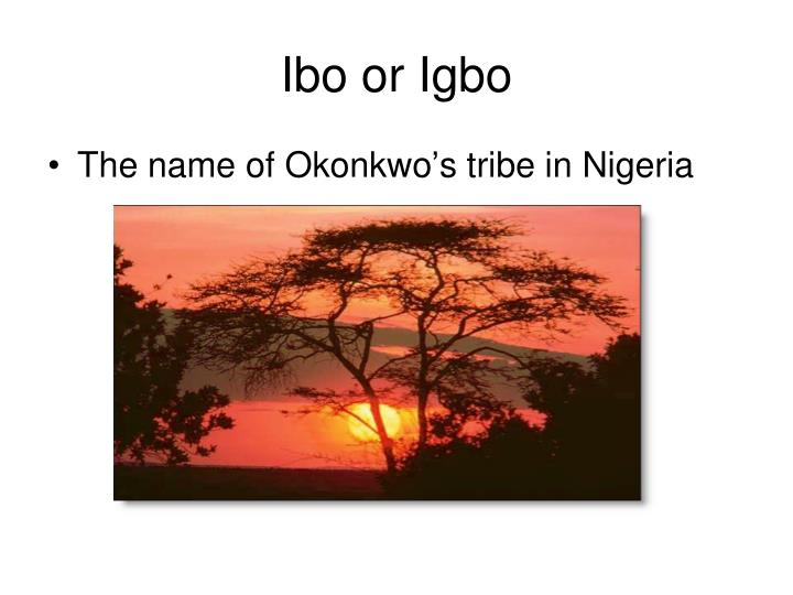 Ibo or Igbo