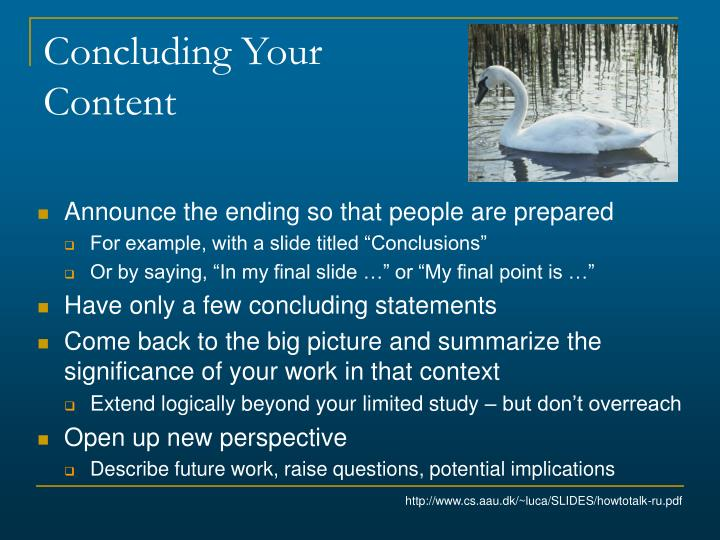 Concluding Your Content