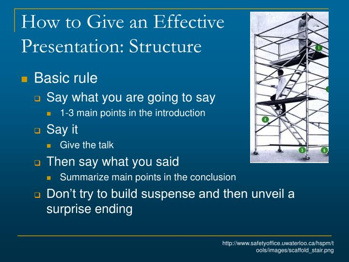 How to Give an Effective Presentation: Structure