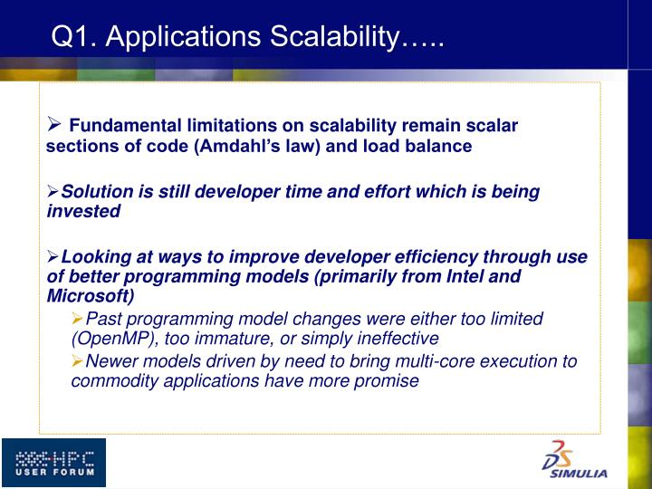 Q1. Applications Scalability…..