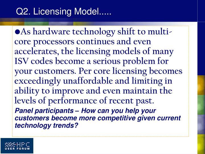 Q2. Licensing Model.....