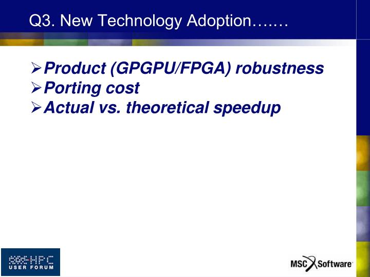 Q3. New Technology Adoption….…