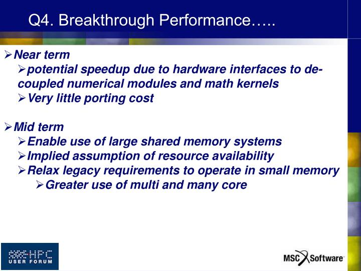 Q4. Breakthrough Performance…..