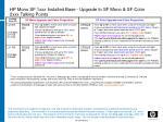 hp mono sf 1xxx installed base upgrade to sf mono sf color 2xxx talking points