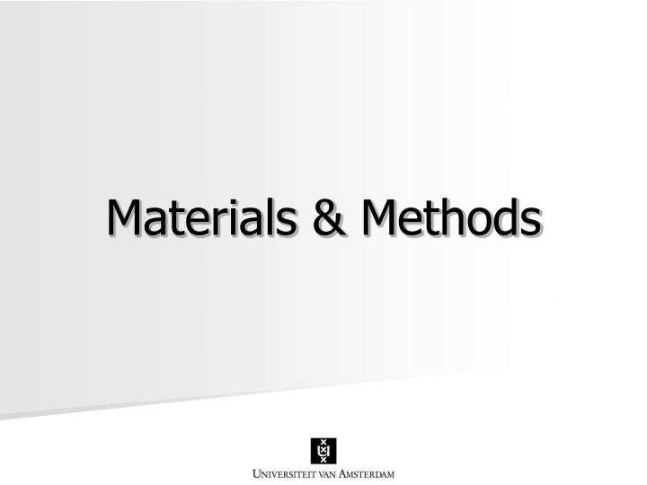Materials & Methods