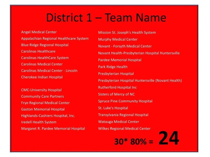 District 1 – Team Name