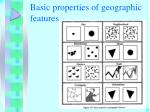 basic properties of geographic features