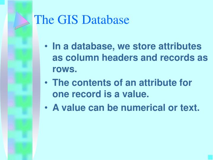 The GIS Database