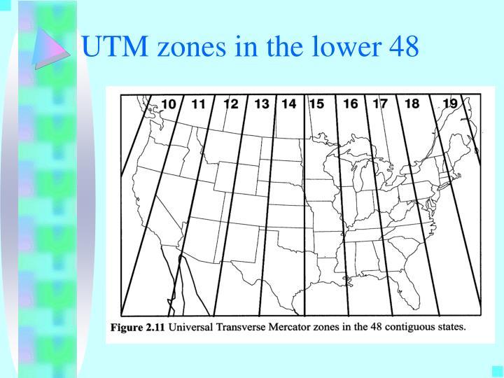 UTM zones in the lower 48