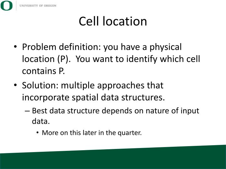 Cell location