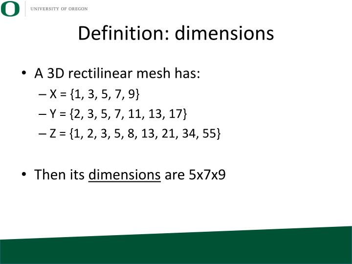 Definition: dimensions