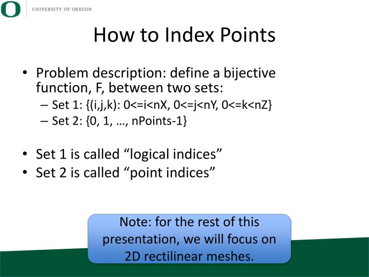 How to Index Points