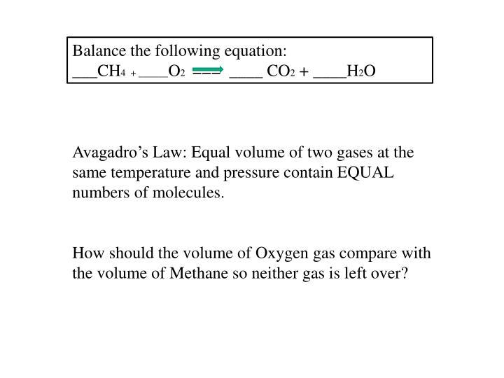 Balance the following equation: