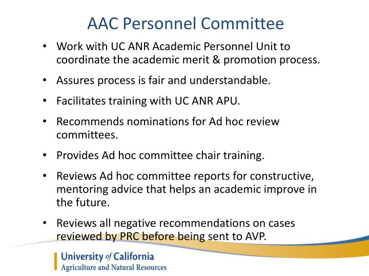 AAC Personnel Committee