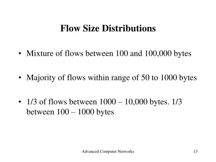 Flow Size Distributions