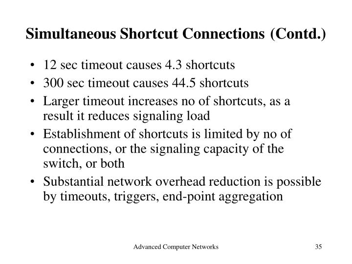 Simultaneous Shortcut Connections