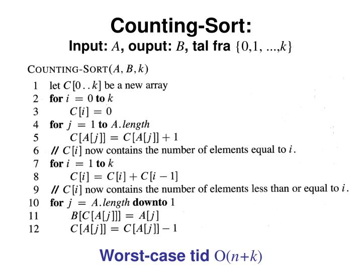 Counting-Sort: