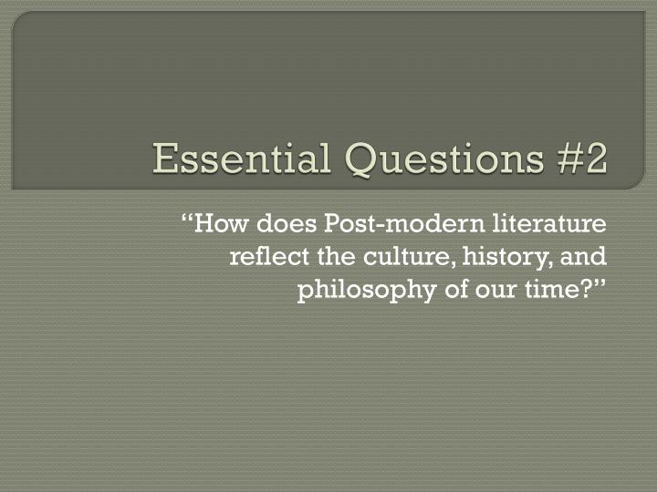 Essential Questions #2