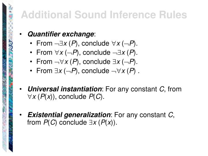 Additional Sound Inference Rules