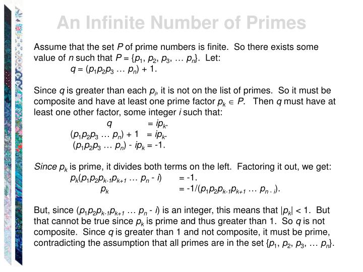An Infinite Number of Primes