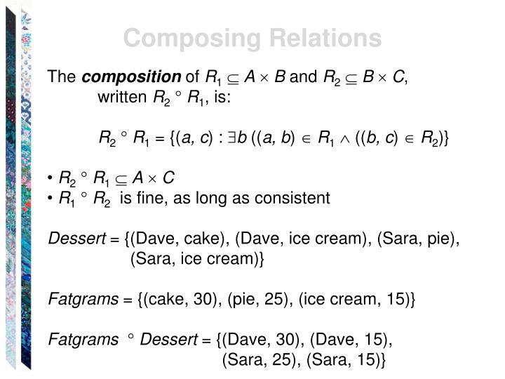 Composing Relations