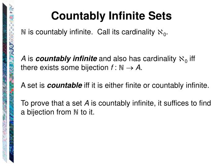 Countably Infinite Sets