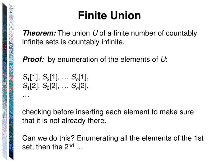 Finite Union