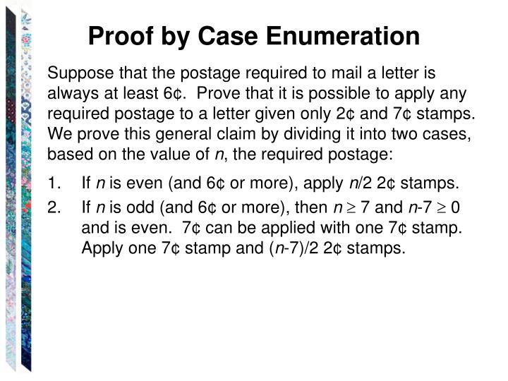 Proof by Case Enumeration