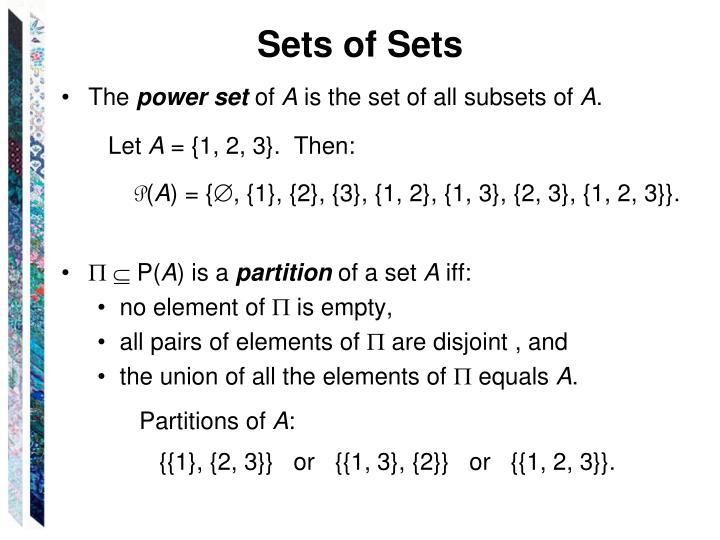 Sets of Sets
