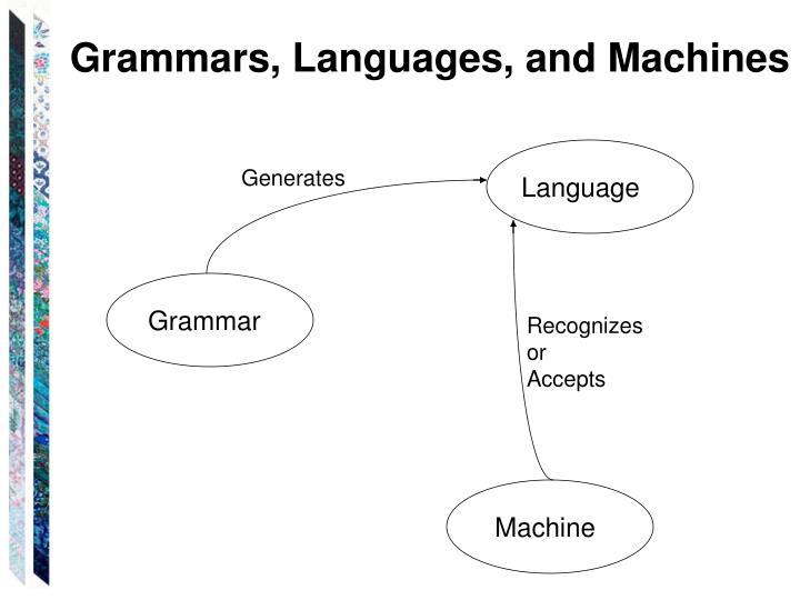 Grammars, Languages, and Machines