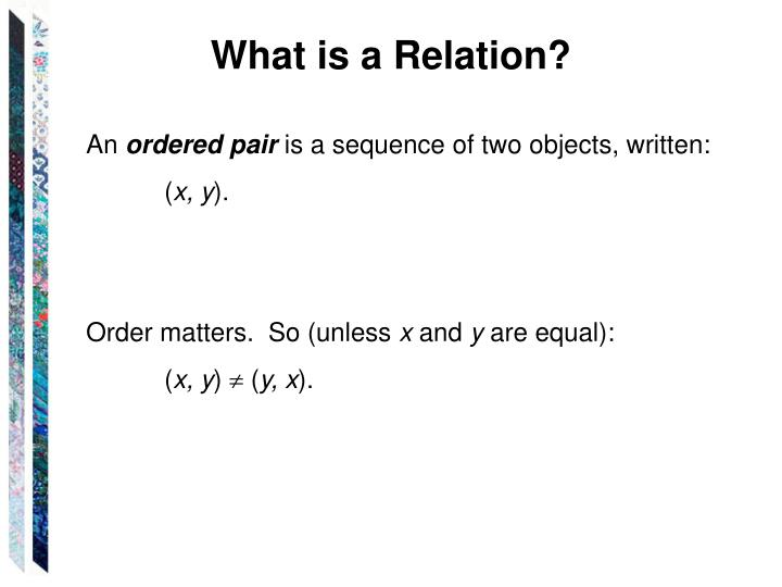 What is a Relation?
