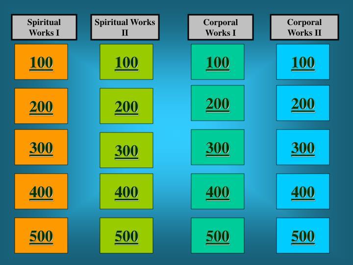 Spiritual Works I