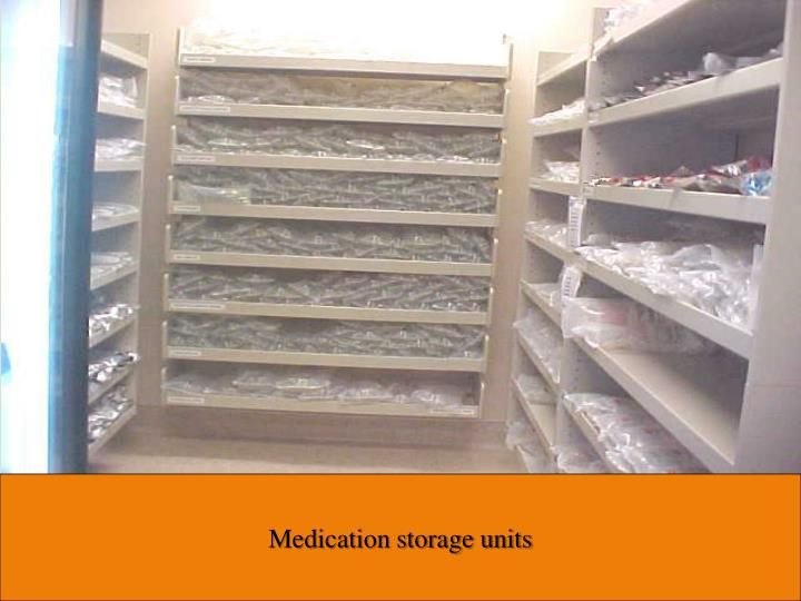 Medication storage units