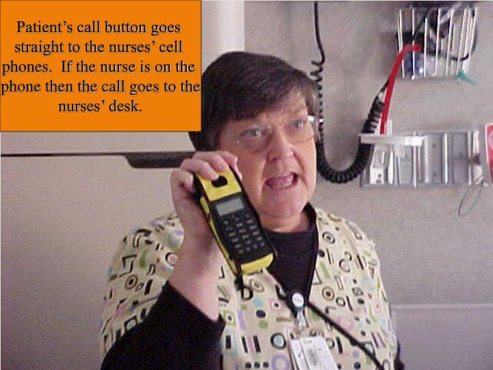 Patient's call button goes