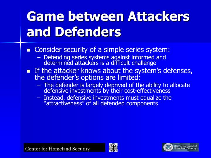 Game between Attackers and Defenders