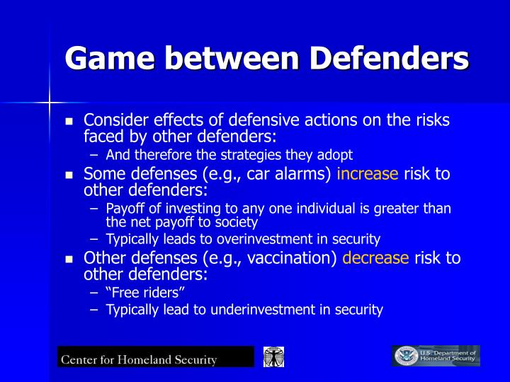 Game between Defenders