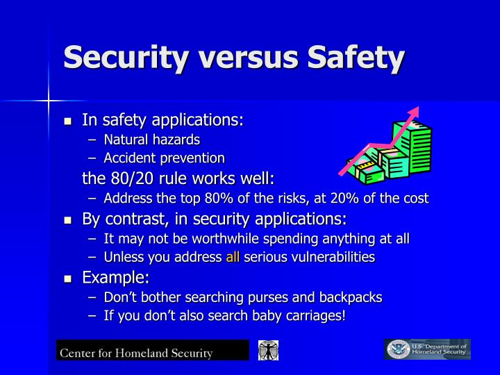 Security versus Safety