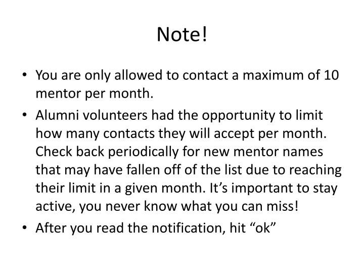 Note!