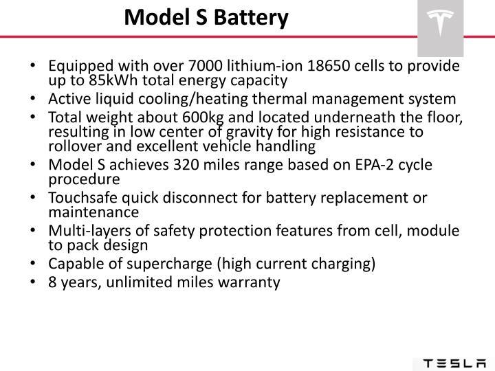 Model S Battery