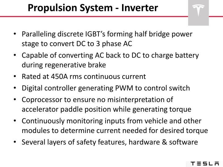 Propulsion System - Inverter