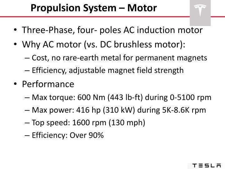 Propulsion System – Motor