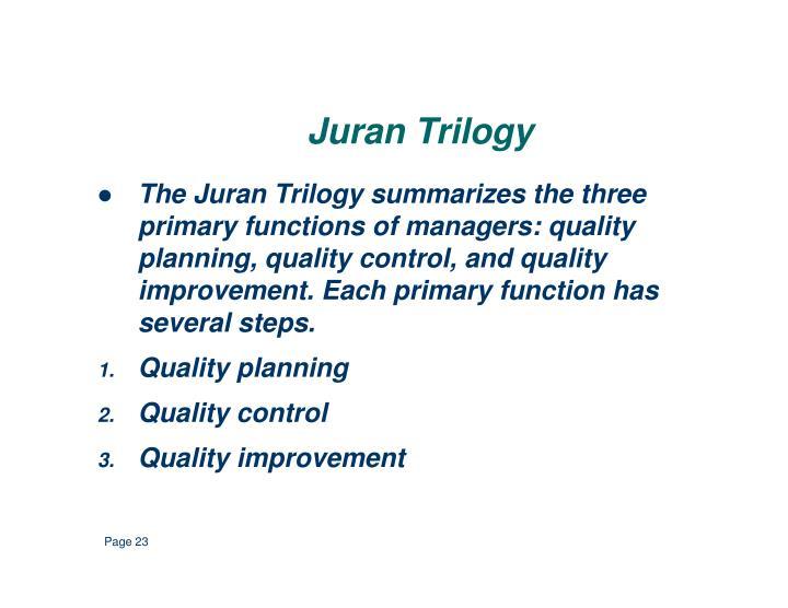 Juran Trilogy