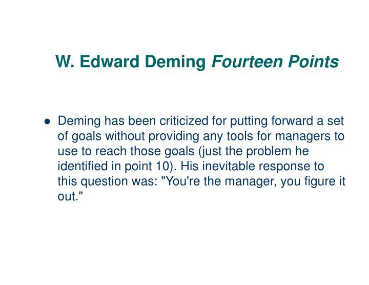 W. Edward Deming