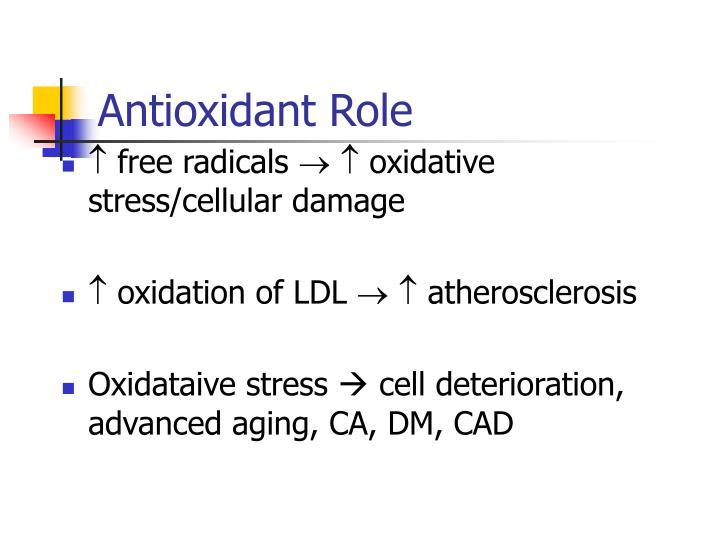 Antioxidant Role