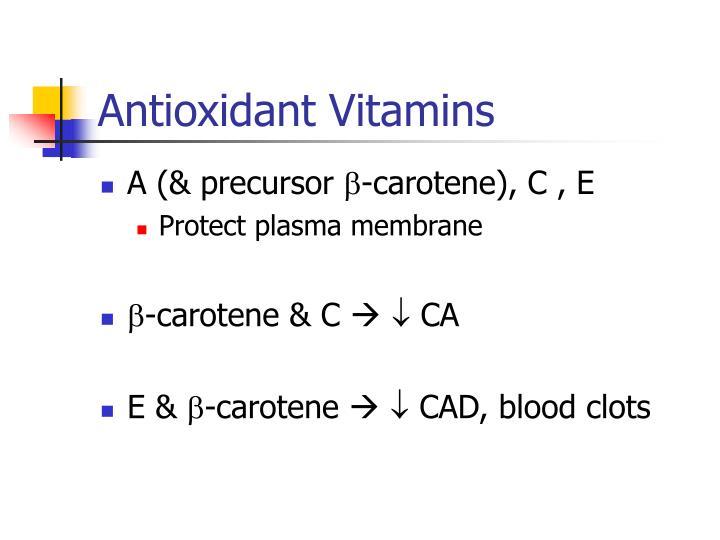 Antioxidant Vitamins