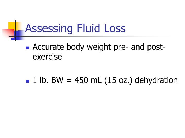 Assessing Fluid Loss