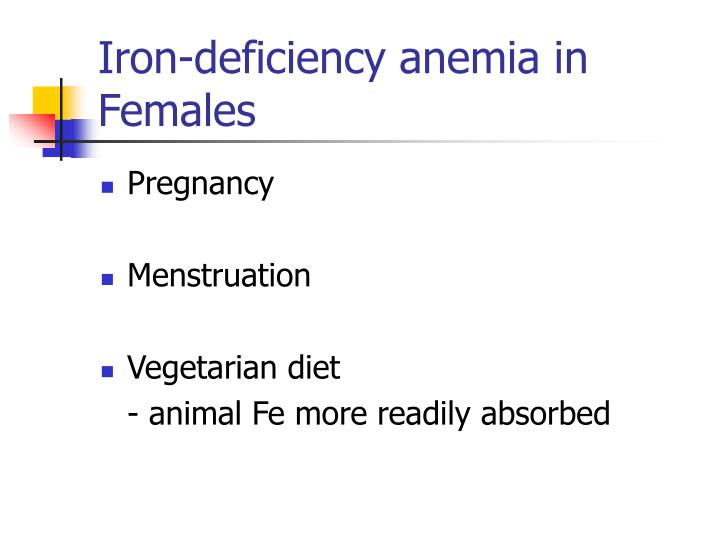 Iron-deficiency anemia in Females