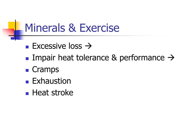 Minerals & Exercise