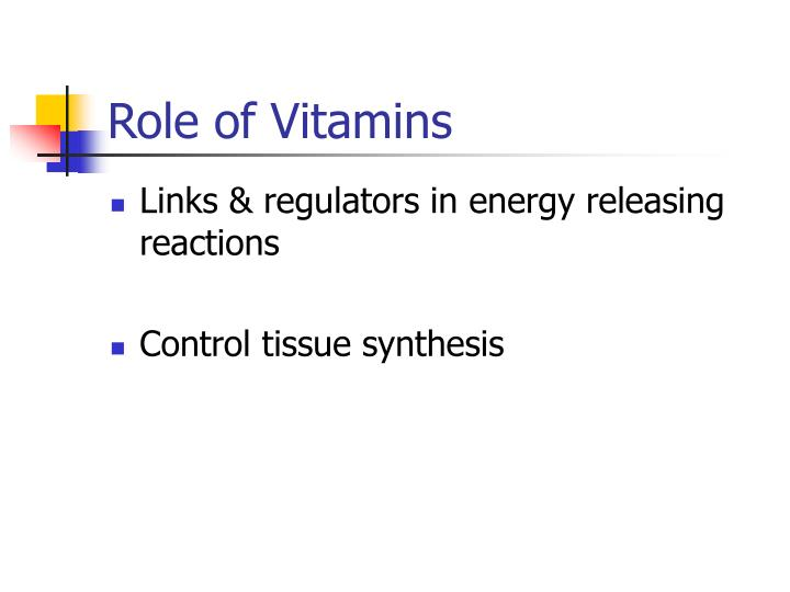 Role of Vitamins