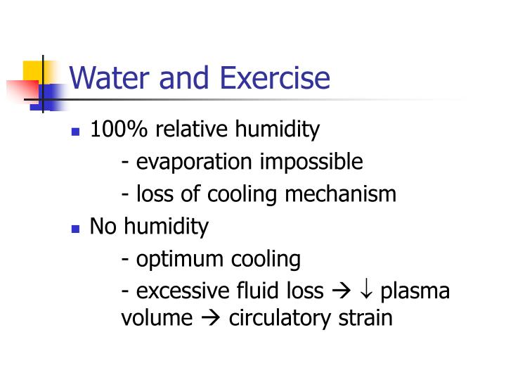 Water and Exercise